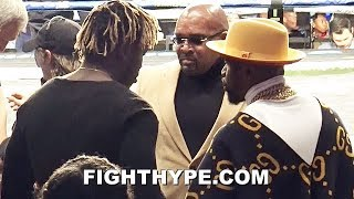 KSI MEETS FLOYD MAYWEATHER; YOUTUBE STAR FANS OUT WITH TBE WEEKEND BEFORE LOGAN PAUL REMATCH