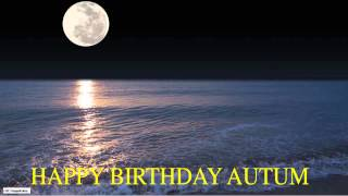 Autum  Moon La Luna - Happy Birthday
