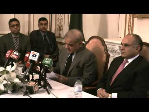 London Media Briefing by Chief Minister Punjab Shahbaz Sharif