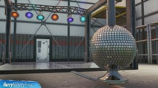 Dance with Others to Raise the Disco Ball in an Icy Airplane Hangar Location - Fortnite