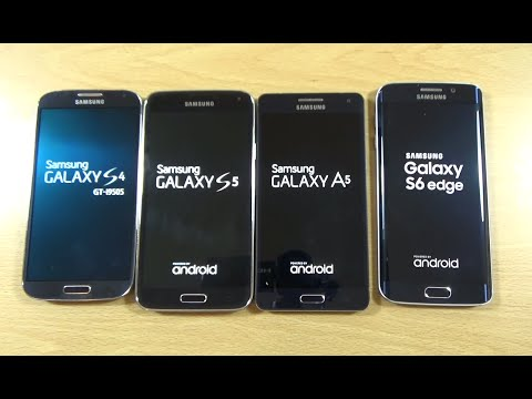 Samsung Galaxy S6 Edge VS A5 VS S5 VS S4 - Speed Test!