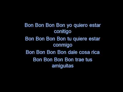 Pitbull - Bon, Bon  -  Lyrics ( We No Speak Americano) video