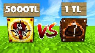 5000 TL VS 1 TL ŞANS BLOKLARI - Minecraft