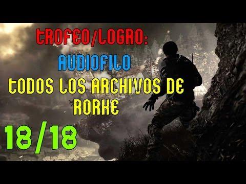 COD:Ghosts - Todos los archivos de Rorke | Trofeo/Logro: Audiófilo |