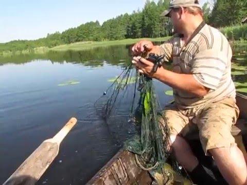 ловля карася сетями весной видео