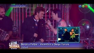 Benjamín Rojas y Felipe Colombo son Vicentico y Diego Torres - Tu Cara me Suena 2015