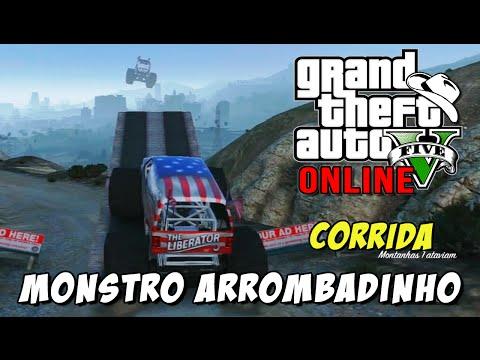 GTA 5 Online - Corrida Monstro Arrombadinho: Saltos e Rampas com Destructor