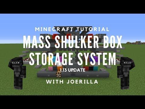 MASS SHULKER BOX STORAGE SYSTEM 1.13 UPDATE - JoeRilla Minecraft Tutorial
