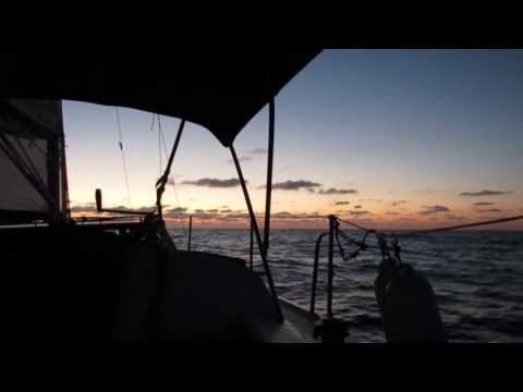 Video #1 in the series - Sailing - Kemah, TX to St. Petersburg, FL - Sunrise 2-9-2014