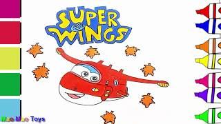 Bé Học Vẽ Tranh Màu Nước Super Wings Đội Bay Siêu Đẳng - Drawing and Coloring Jett Super Wings