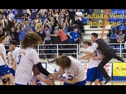 Mens' Volleyball Canada West Quarter-Final: UBC vs Manitoba highlights