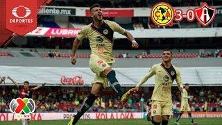 Resumen América 3 - 0 Atlas   Apertura 18 - Jornada 2   Televisa Deportes