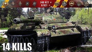 Т-62А 14 ФРАГОВ НА 10 УРОВНЕ (герой Расейняя). Химмельсдорф - лучший бой T-62A World of Tanks.