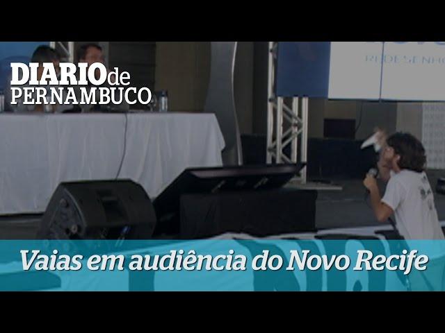 Bate boca na audiência do Novo Recife