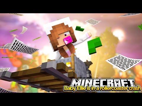 Minecraft Little Kelly : BABY ELLIE IS IN A ROLLERCOASTER CRASH!