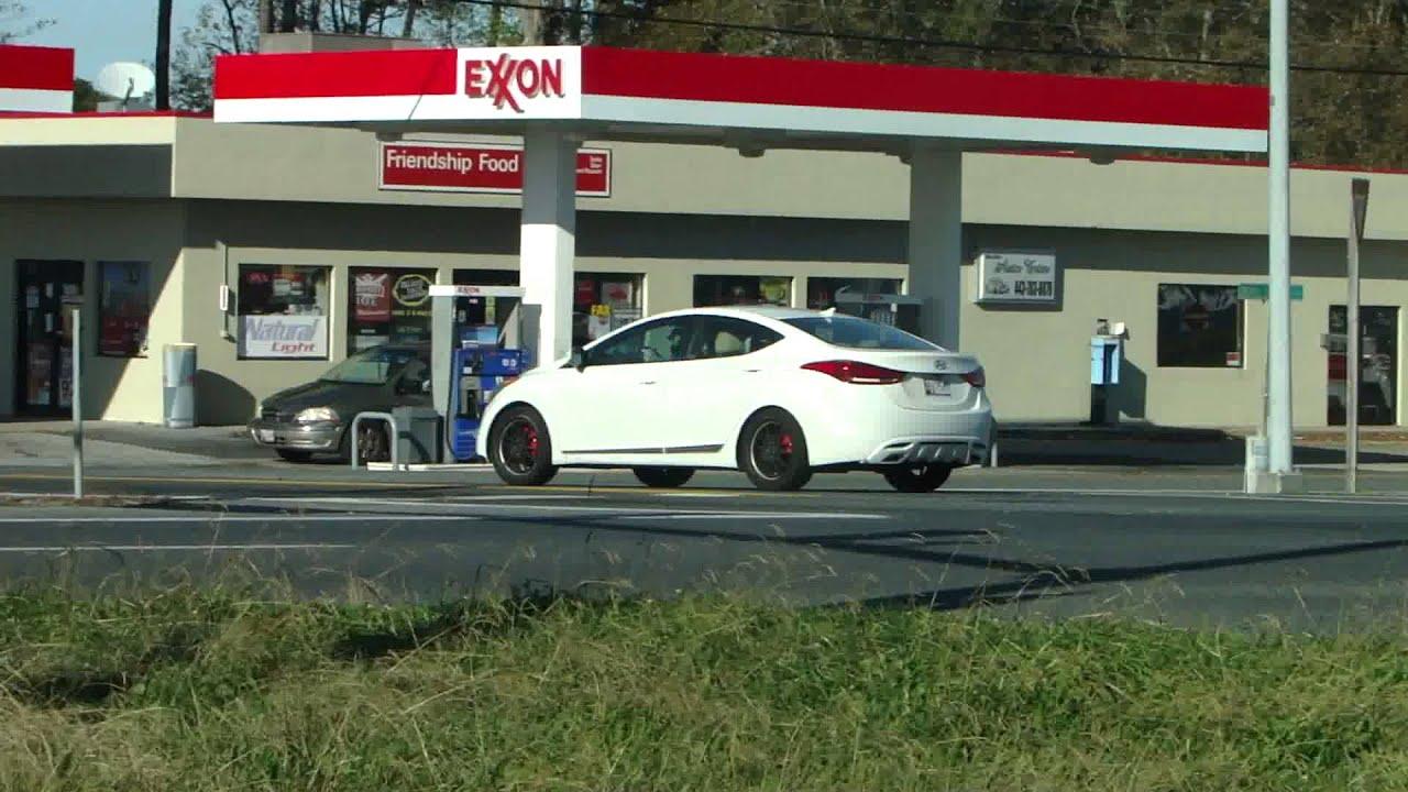 White 2012 Hyundai Elantra Tricked Out With Black Rims
