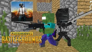 Monster School: Player Unknown Battlegrounds (PUBG) Challenge- Minecraft Animation
