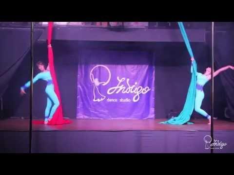 Корбанова Татьяна и Хромова Мария, воздушные полотна! Indigo Dance Studio Отчетный концерт 2015!!!