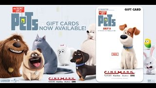 The Secret Life of Pets - Grab Your Giftcard at Cinemark!