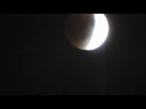 TIME-LAPSE of Super red blood moon Lunar Eclipse 2015 (Sept 27, 2015)