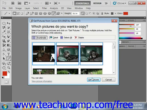 Photoshop CS5 Tutorial Scanning Images Adobe Training Lesson 3.4