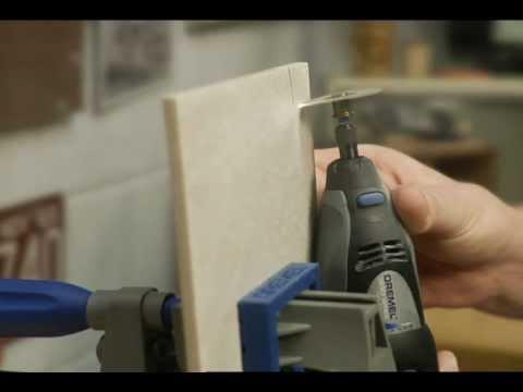 Cutting ceramic tile dremel