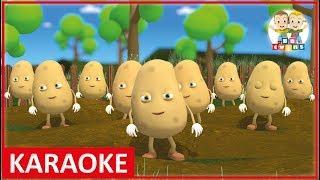 KARAOKE    One potato, two potatoes - POTATOES Song  Nursery Rhymes for Kids Songs
