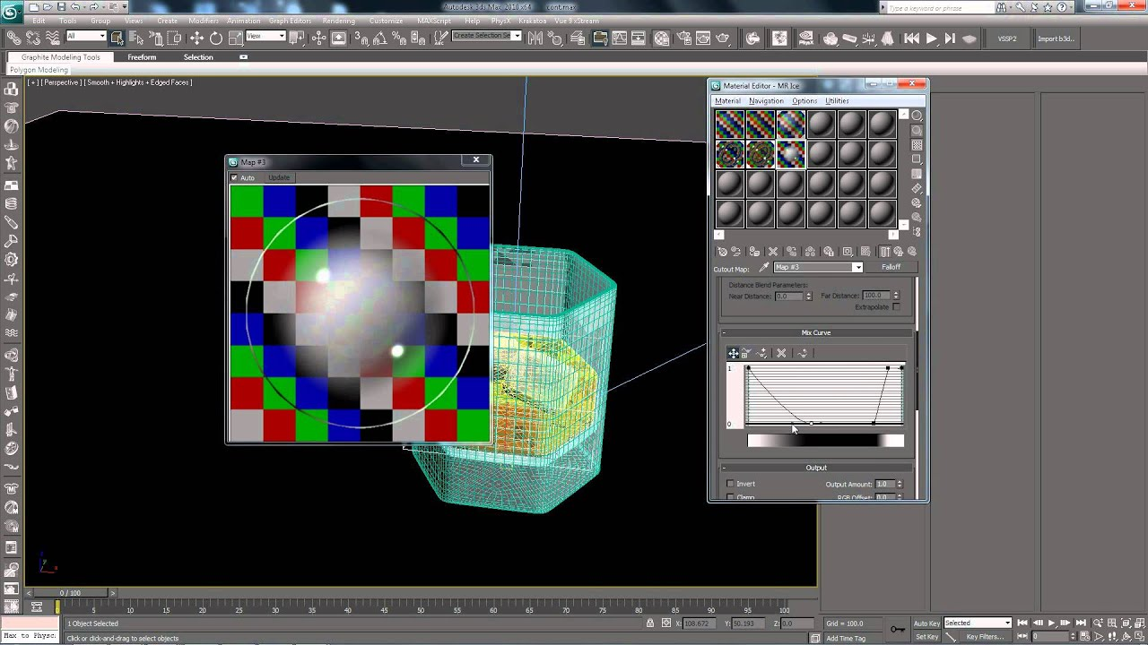 3ds max tutorial glass part 3 4 lighting and for Mirror vray material