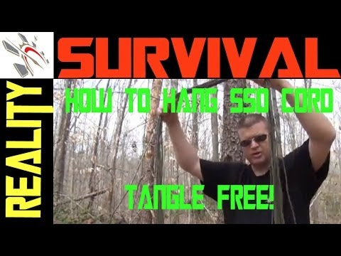 Survival Gear: How To Hang Paracord Without Tangles!