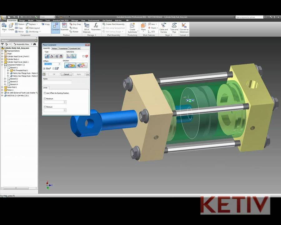 New for Autodesk Inventor 2011 - Constraint Limits - YouTube