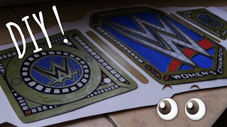 How to make WWE Smackdown Women's championship title belt