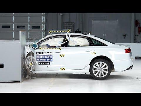 2016 Audi A6 small overlap IIHS crash test