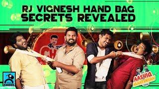 RJ VIGNESH HAND BAG SECRETS REVEALED | ft. Aashiq & Maathevan | Chutti and Viki Show