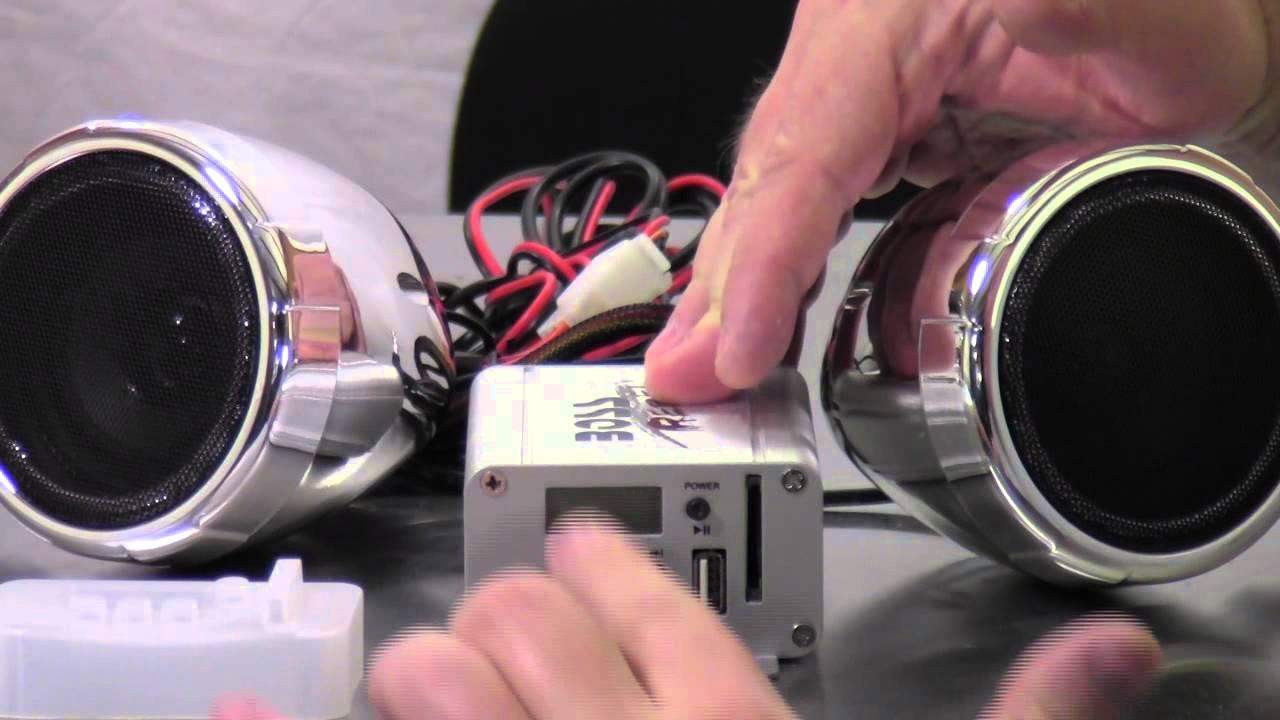 BOSS Audio MC500 Motorcyle UTV Amplifier Speaker system USB SD