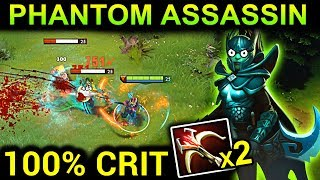 AMAZING 100% CRIT PHANTOM ASSASSIN PATCH 7.10 DOTA 2 NEW META GAMEPLAY #49 (gattu PHANTOM ASSASSIN)