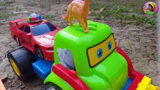 Xe cẩu đồ chơi bắt khủng long 🚜 Sanding Truck with Dinosaurs for Kids