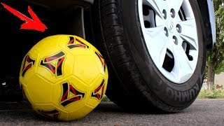 EXPERIMENT: CAR VS SOCCER BALL