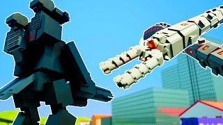 LEGO ROBOT MECH VS MASSIVE MECHANICAL FLYING WORM! - Brick Rigs Workshop Creations Gameplay