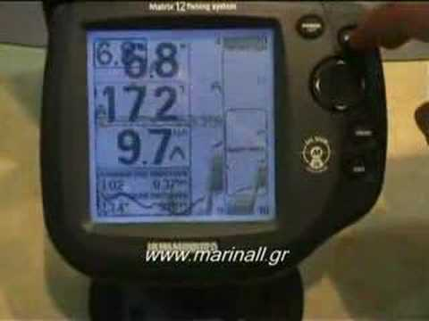 Fishfinder Matrix 12x Gps Ready Humminbird Youtube