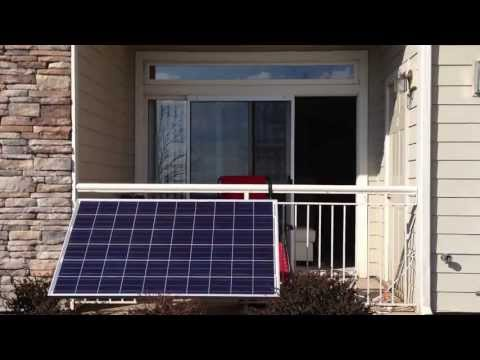 Grid-tied solar power installation in apartment (part 1)
