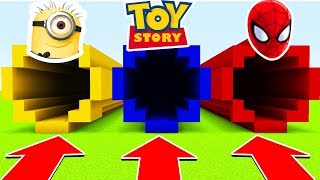 DO NOT CHOOSE THE WRONG TUNNEL(TOYSTORY, MINIONS, SPIDERMAN) (Ps3/Xbox360/PS4/XboxOne/PE/MCPE)