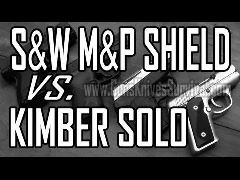 S&W M&P Shield vs. Kimber Solo Carry STS Concealed Carry: 9mm Pistol Comparison Part 4