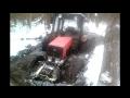 МТЗ 82 на колесах от комбайна в грязевой ванне