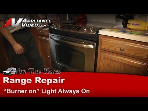Range & Stove Repair - Burners are off & light staying on -GE ...