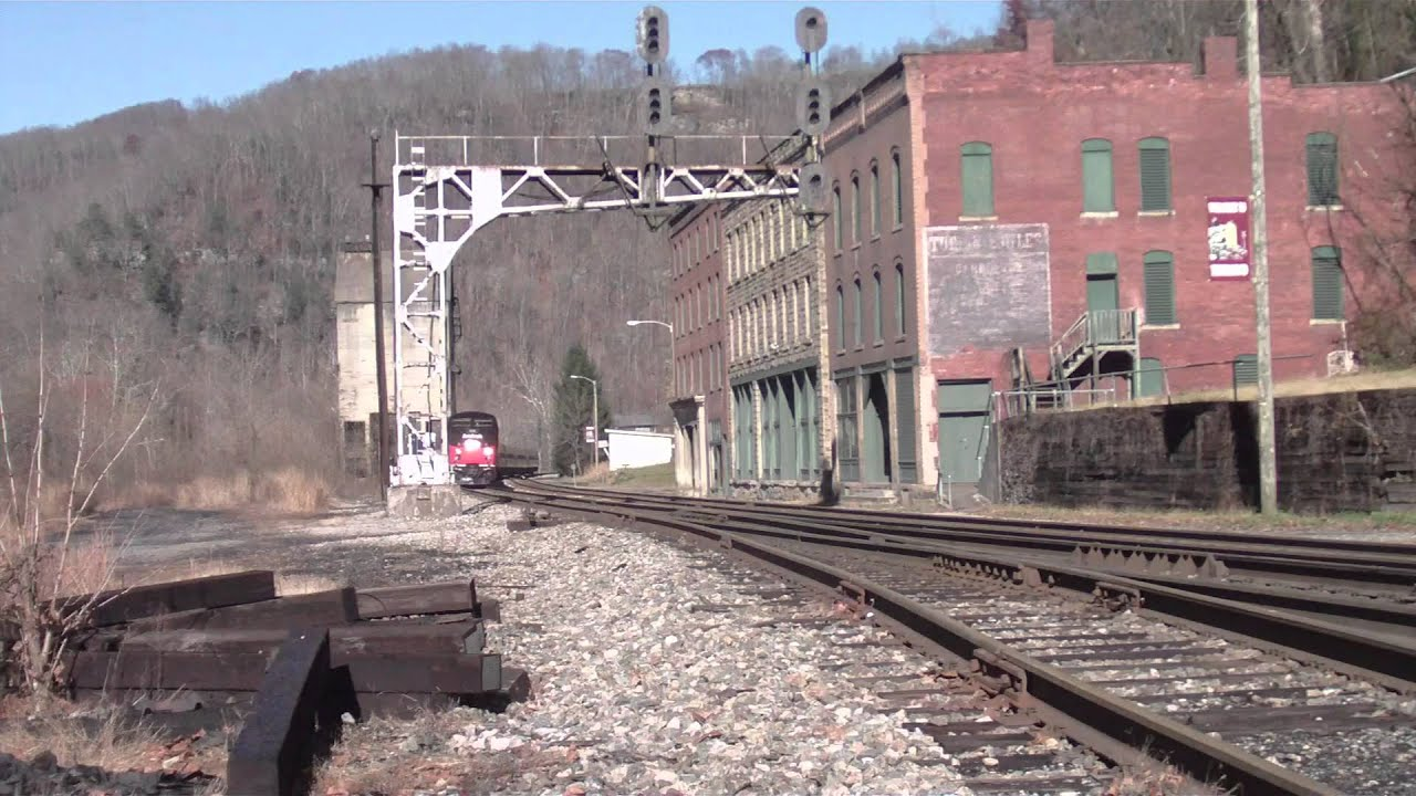 Amtrak 156 On Train 50 At Thurmond West Virginia Youtube