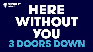 "Download Lagu Here Without You in the Style of ""3 Doors Down"" karaoke video with lyrics (no lead vocal) Gratis STAFABAND"