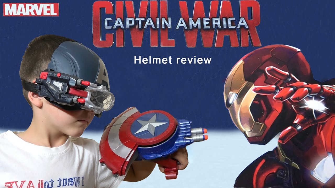 Captain America Marvel Civil War Scope Vision Helmet