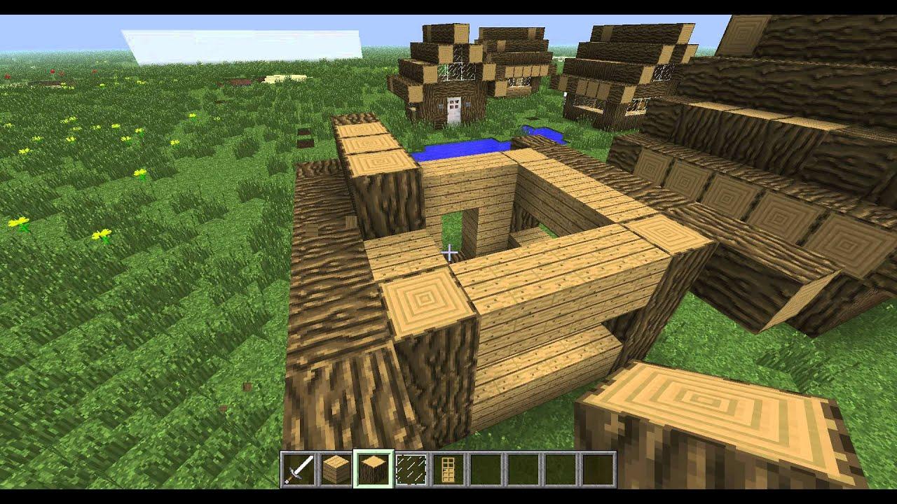 """Minecraft """"Как сделать дом за 5 мин"""" - YouTube"""