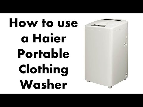 Haier HLP23E Portable Washer 1.46 Cubic Top Load