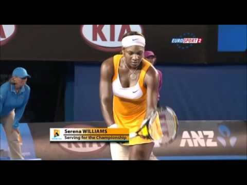 Serena Williams v Justine Henin, Australian Open 2010 Final - Part 12 (Final part)